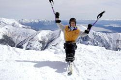 Amanda Boxtel skiing